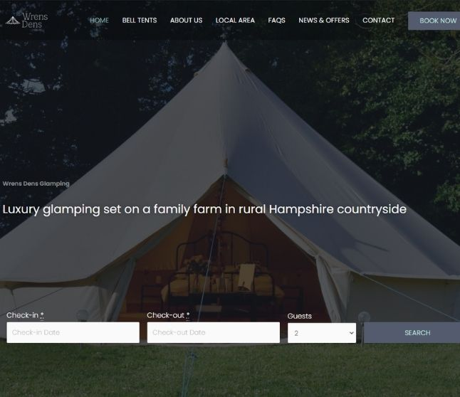 Wrens Dens website